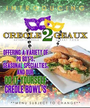 Creole2Geaux Menu